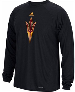 Arizona State Sun Devils Black Spine Climalite Long Sleeve T Shirt
