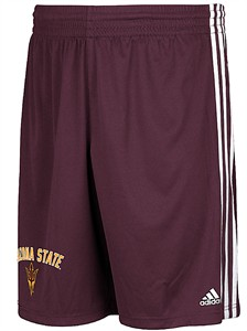Arizona State Sun Devils Mens Polyester Shorts-Trainer, Maroon