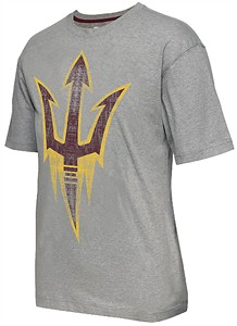 Arizona State Sun Devils Mens Grey Colossal Short Sleeve T Shirt by Colosseum