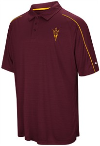 Arizona State Sun Devils Mens Maroon Touchback Polyester Polo Shirt