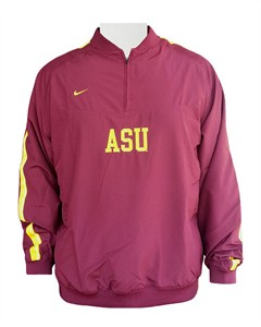 Arizona State Sundevils College Hitch & Go Pullover Wind Jacket By Nike Team Sports