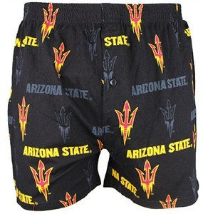 Arizona State Sundevils Mens Black Insider Boxer Shorts by Concepts Sports