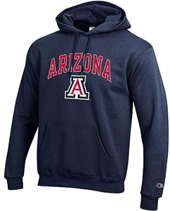 Arizona Wildcats Mens Navy Arena Screen Printed Hoodie Sweatshirt by Championon on Sale