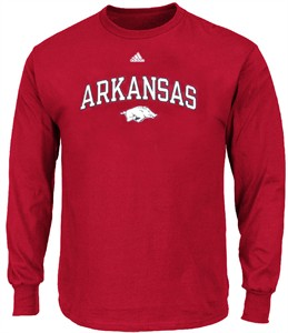 Arkansas Razorback True Fan Long Sleeve T Shirt by Adidas