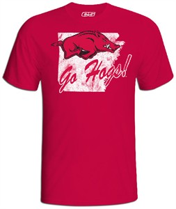 Arkansas Razorbacks Cardinal Slim Fit Vintage T Shirt by E5
