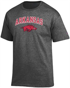 Arkansas Razorbacks Granite Heather Champion Campus Short Sleeve Tee Shirt