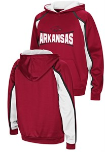 Arkansas Razorbacks Youth Hook and Lateral Pullover Synthetic Hoodie Sweatshirt on Sale