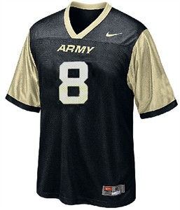 Army #8 Youth Football Jersey by Nike