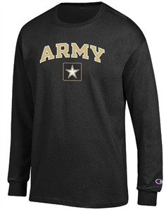 Army Black Knights Arched Stadium Long Sleeve T Shirt by Champion