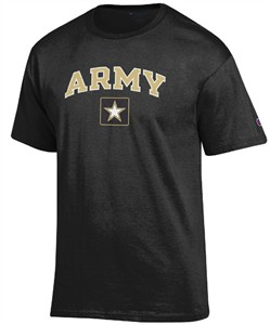 Army Black Knights Arched Stadium Short Sleeve T Shirt by Champion
