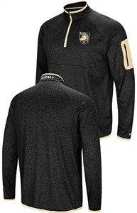 Army Black Knights Black Amnesia Quarter Zip Pullover Synthetic Windshirt