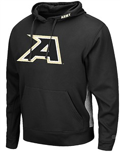 Army Black Knights Black Chrome Embroidered Synthetic Poly Hoodie Sweatshirt