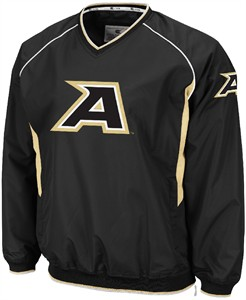 Army Black Knights Black Embroidered V Neck Pitch Pullover Jacket