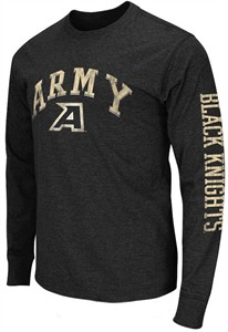 Army Black Knights Black Goal Line Long Sleeve T Shirt by Colosseum