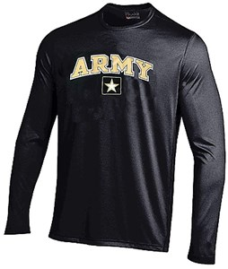 Army Black Knights Black NuTech Performance Long Sleeve Shirt by Under Armour
