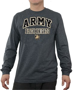 Army Black Knights Charcoal Over Under Flanker Long Sleeve T Shirt