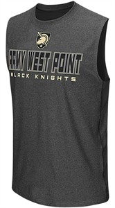 Army Black Knights Charcoal Colosseum Architect Synthetic Sleeveless T Shirt