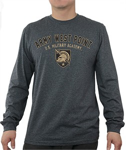 Army Black Knights Charcoal Heather Mens Core Long Sleeve T Shirt