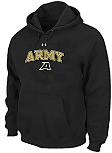 Army Black Knights Men's Black Under Armour Performance ColdGear Hooded Sweatshirt