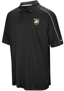 Army Black Knights Mens Black Setter Synthetic Poly Polo Shirt