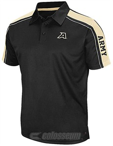 Army Black Knights Mens Black Synthetic Condor Polo Shirt by Chiliwear