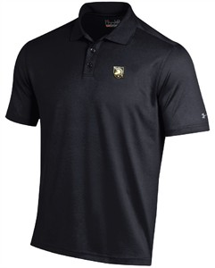 Army Black Knights Mens Black Under Armour Performance Polo Shirt