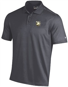 Army Black Knights Mens Grey Under Armour Performance Polo Shirt