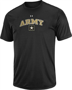 Army Black Knights Black HeatGear NuTech Performance Shirt by Under Armour