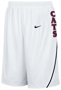 "Arizona Wildcats New College White 12""  Inseam Embroidered Player Replica Basketball Short By Nike Team Sports"