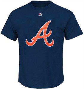 Atlanta Braves Navy Skills Test Synthetic Performance T Shirt by Majestic