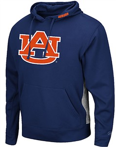 Auburn Tigers Blue Chrome Embroidered Synthetic Poly Hoodie Sweatshirt