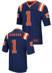 online store a3f0c 8db81 Auburn Tigers Blue Foos-Ball College Football Jersey by ...