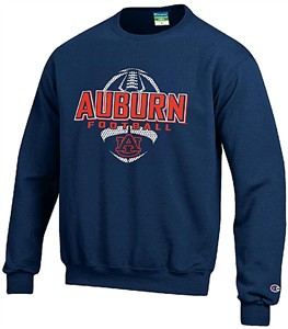 premium selection 1def0 fe305 Auburn Tigers Blue Football Powerblend Screened Crew ...