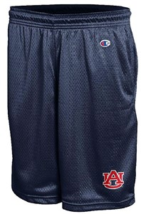 Auburn Tigers Men's Blue Poly Mesh Workout Shorts on Sale
