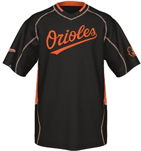 Baltimore Orioles MLB Fast Action Synthetic V Neck Jersey by Majestic