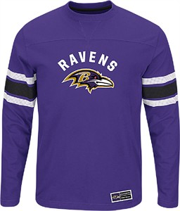 low priced 2a3e0 a2450 Baltimore Ravens Adult Purple Power Hit 2 Long Sleeve T ...