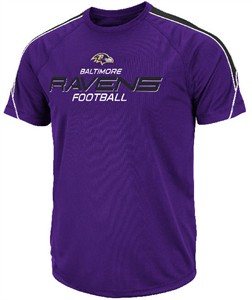 Baltimore Ravens Fanfare V Performance Purple Short Sleeve T Shirt on Sale