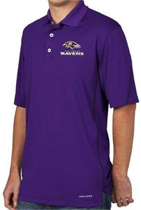 7d2fcde99 Baltimore Ravens Purple Majestic Field Classic 8 NFL Synthetic Polo ...