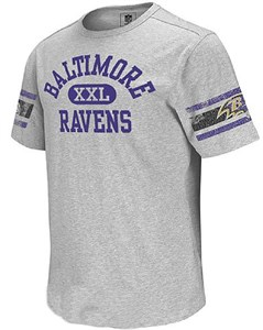 Baltimore Ravens Vintage Applique Shirt by Reebok-Grey