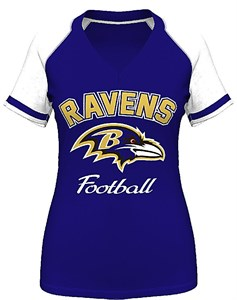 9a8fdfc4 Baltimore Ravens Womens Go For It 4 V Neck Shirt by VF | Baltimore ...