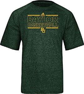 Baylor Bears Green Climalite Short Sleeve Basketball Shirt