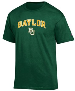 Baylor Bears Arched Stadium Short Sleeve T Shirt by Champion