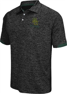 Baylor Bears Black Spiral 2 Synthetic Polo Shirt by Colosseum