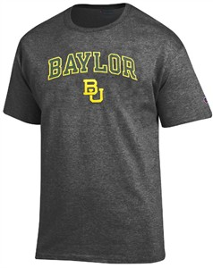 Baylor Bears Granite Heather Champion Campus Short Sleeve Tee Shirt