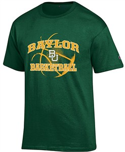 Baylor Bears Green Basketball Short Sleeve T Shirt by Champion