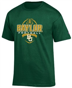 Baylor Bears Green Football Short Sleeve T Shirt by Champion