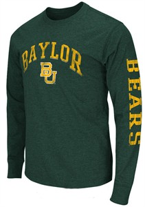 Baylor Bears Green Goal Line Long Sleeve T Shirt by Colosseum