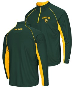 Baylor Bears Green Lineman ¼ Zip Pullover Raglan Light-Weight Top