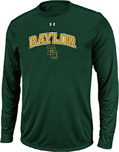 Baylor Bears Green Poly Dry HeatGear NuTech Long Sleeve Shirt by Under Armour