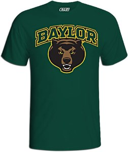 Baylor Bears Green Slim Fit College Logo T Shirt by E5